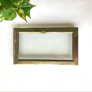 Vintage Footed Vanity Glass Tray